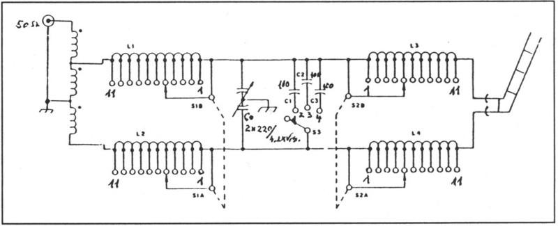 Ham Radio Site - <High Power ATU's> on random wire antenna tuner schematic, simple antenna tuner schematic, homebrew antenna tuner schematic, johnson matchbox antenna tuner schematic,